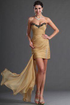 Jaune gaine / colonne sweetheart robes de bal