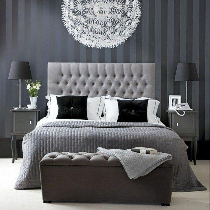 les 25 meilleures id es de la cat gorie lit capitonn sur pinterest chambre coucher avec lit. Black Bedroom Furniture Sets. Home Design Ideas