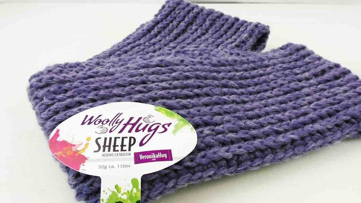 Doppelloop mit Wooly Hugs Wolle |  Patentmuster Winterschal | Warmer Loo...