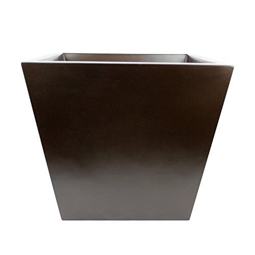 Saratoga Square Fiberglass Planter Box Brown 10 Inch -- To view further for this item, visit the image link.