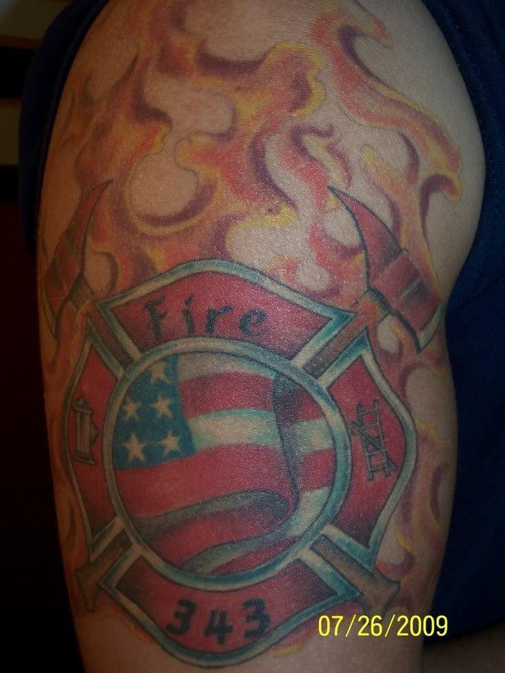 firefighter angel tattoos