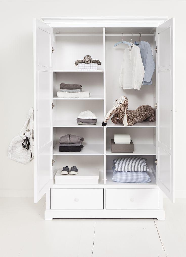 Wardrobe with 2 doors H195 from Oliver Furniture - Danish Design.  www.oliverfurniture.com