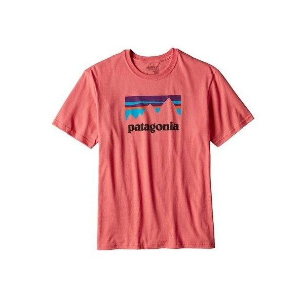 Men's Patagonia Shop Sticker Cotton T-Shirt ($35) ❤ liked on Polyvore featuring men's fashion, men's clothing, men's shirts, men's t-shirts, graphic t shirts, mens graphic t shirts, mens cotton shirts, mens short sleeve t shirts, mens t shirts and men's regular fit shirts