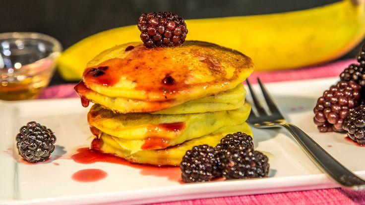 Pancake alla Banana Senza Burro e Senza Glutine