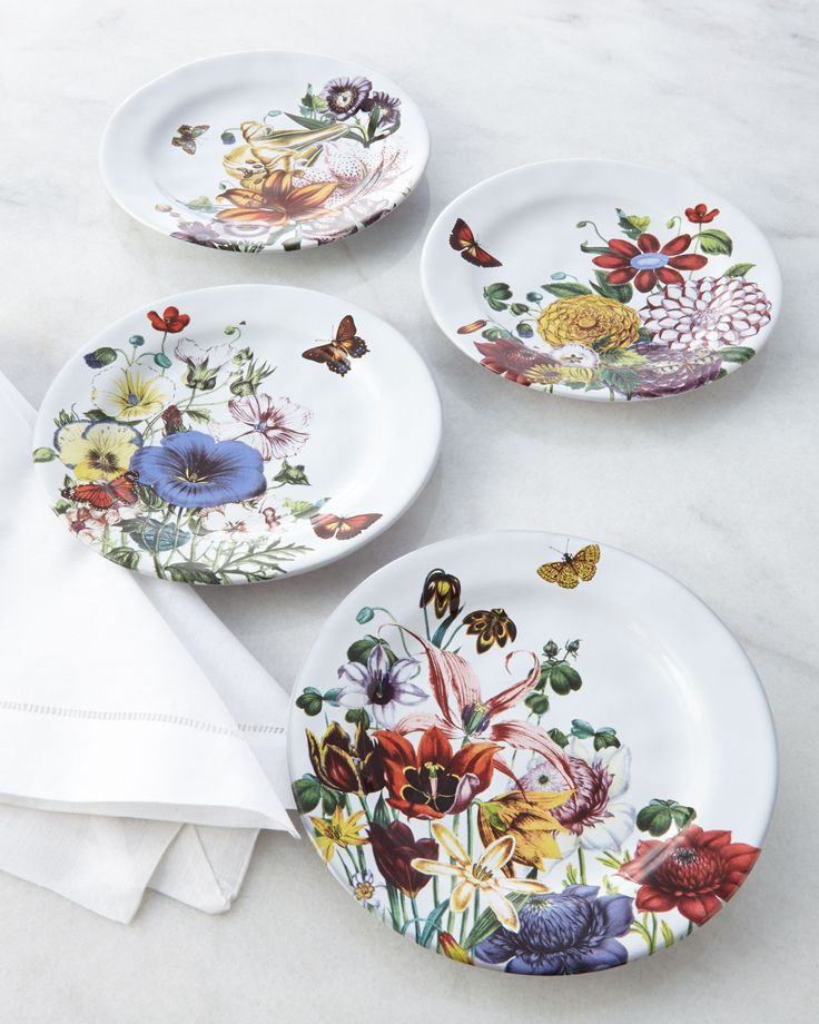 Four Field of Flowers Party Plates by Juliska at Neiman Marcus.