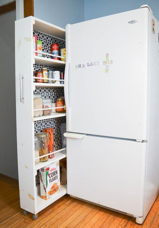 Small Space Storage Solution - The BEST Kitchen Organizing Project EVER! Full Tutorial for this rolling pantry.