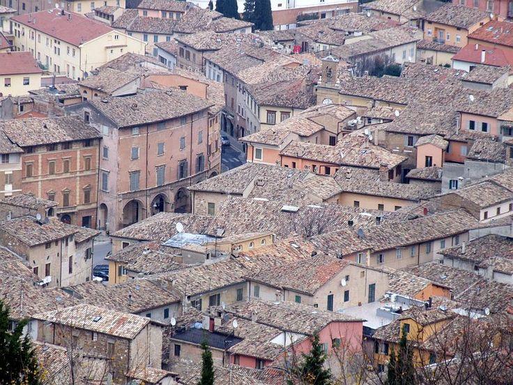 San Severino Marche, dall'alto.