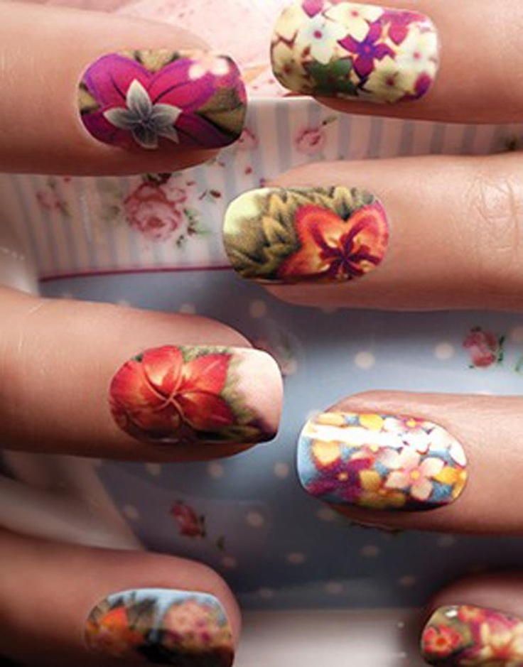249 best Flower Power images on Pinterest | Nail art, Nail art ...
