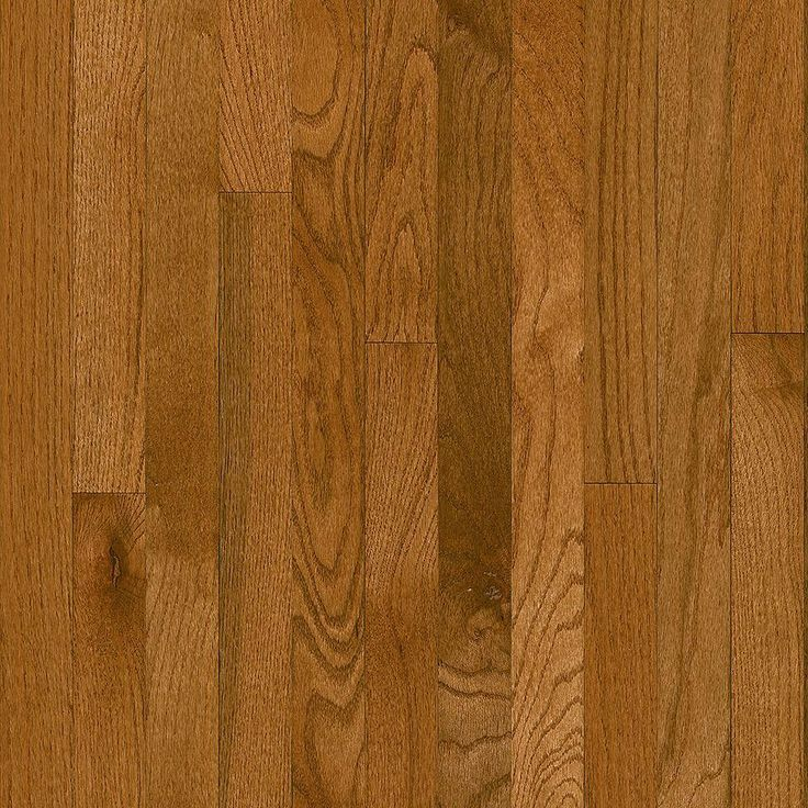 Bruce Plano Oak Gunstock 3 4 In Thick X 2 1 Wide Random Length Solid Hardwood Flooring 20 Sq Ft Case FlooringHome Depot