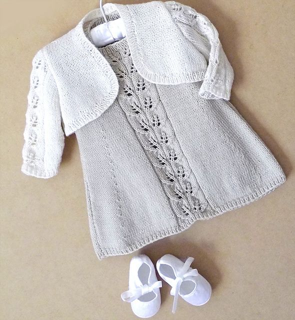 Ravelry: Baby A-Line dress, Bolero & Rompers pattern by OGE Knitwear Designs