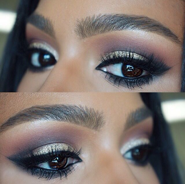 Perfect makeup look for brown eyes.