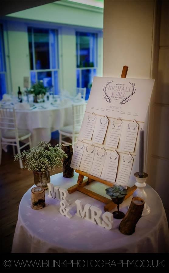 Gorgeous table plan for a winter woodland theme