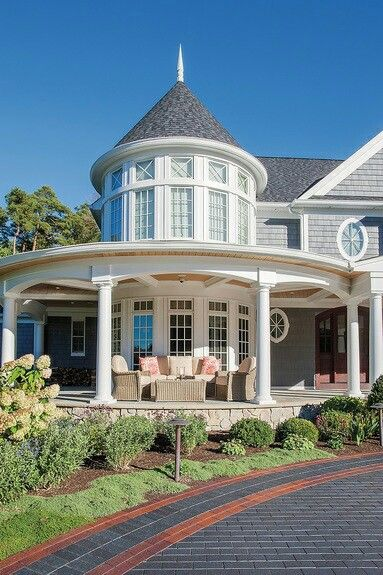 214 best images about home sweet home on pinterest for Beach house designs with wrap around porch