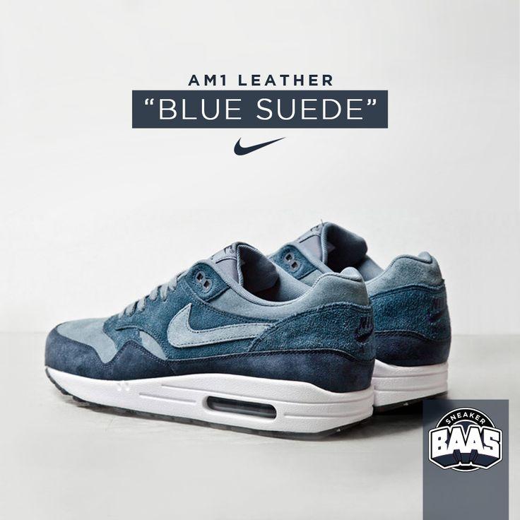 "Nike AM1 Leather ""Blue Suede"" | Fresh one from nike! | www.sneakerbaas.nl | #Nike #AM1 #SUEDE #Fresh"
