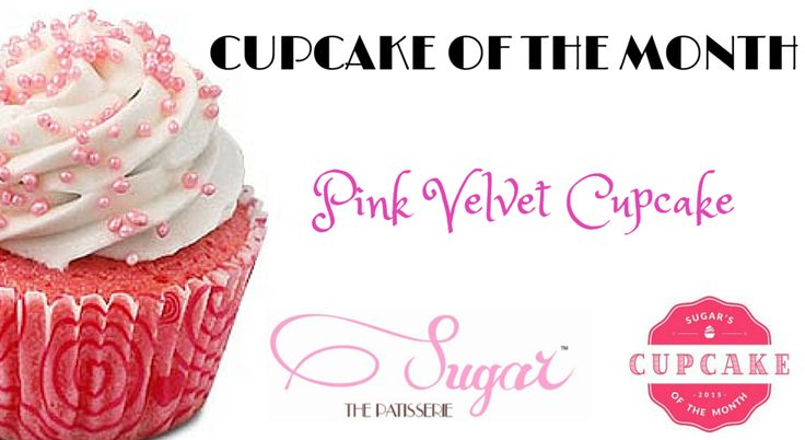 Introducing the Pink Velvet Cupcake - A delicious Pink Velvet Cupcake with a Pink Cream Cheese Frosting! In store only this month at Sugar the Patisserie! #sugarthepatisserie #cupcake #march #pink #desserts #treats