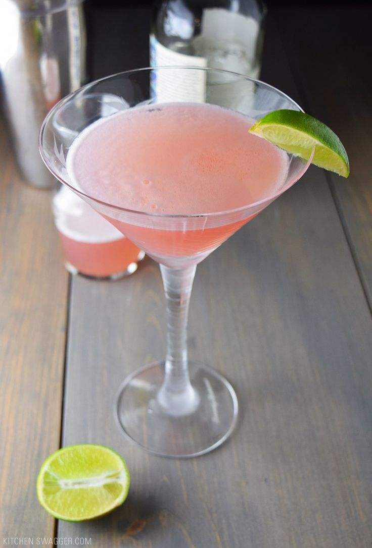 Traditional cosmopolitan recipe made with lime juice, vodka, triple sec, and cranberry juice.
