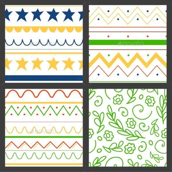 Easter Seamless Pattern Background Design Vector