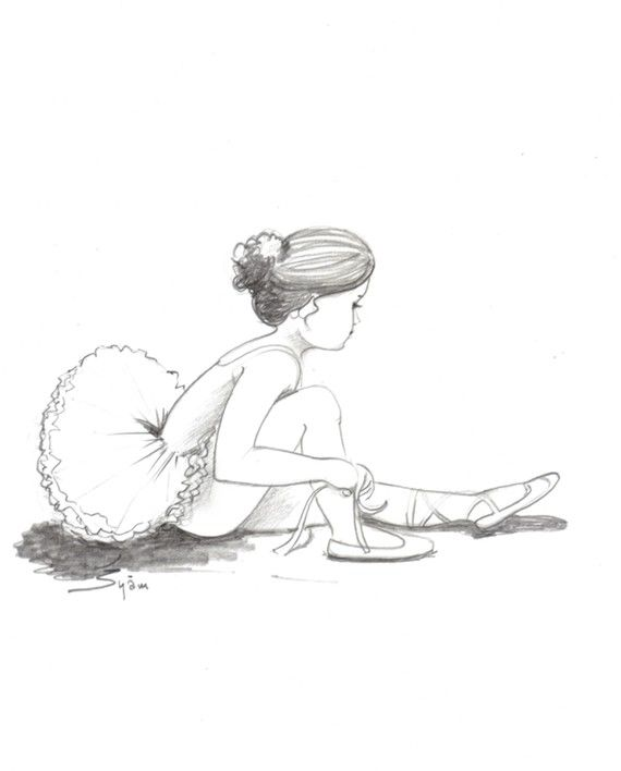 original drawing for sale The young ballerina Pencil by syamarts, $75.00