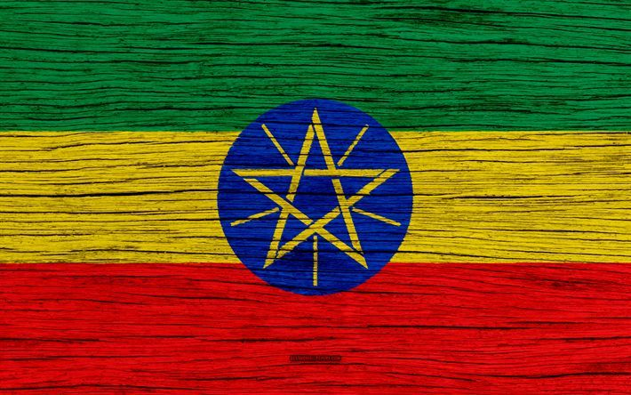 Download Wallpapers Flag Of Ethiopia 4k Africa Wooden Texture