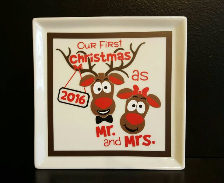 Our First Christmas Plate-Christmas Gifts for Couples-Decorative Christmas Plate by FromAtoZbyTami on Etsy