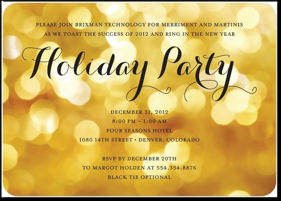 10 best invitations pearlized glow corporate holiday party party glow corporate holiday party invitations in lemon yellow stopboris Images