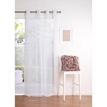 Filigree Rivet Eyelet Curtain White 140 x 223 cm