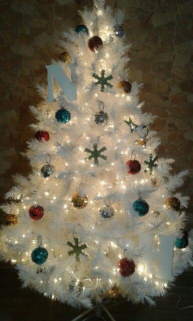 Nuestro primer árbol de navidad, adornos hechos x mi :)