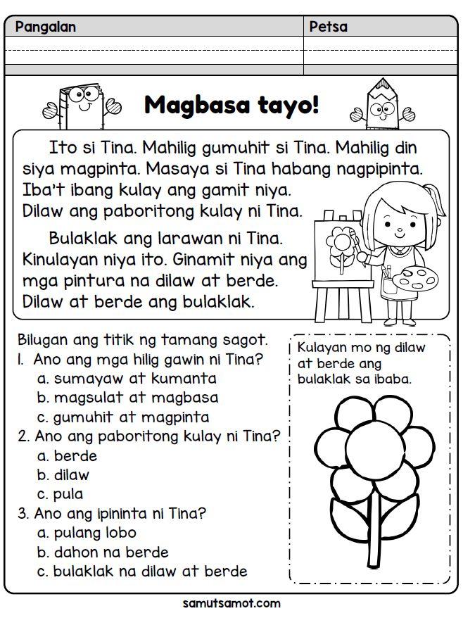 Magbasa Tayo! Ang Larawan ni Tina (With images) 1st