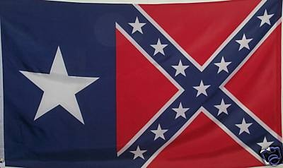 TEXAS BATTLE FLAG - CONFEDERATE LONESTAR - REBEL TEXAN
