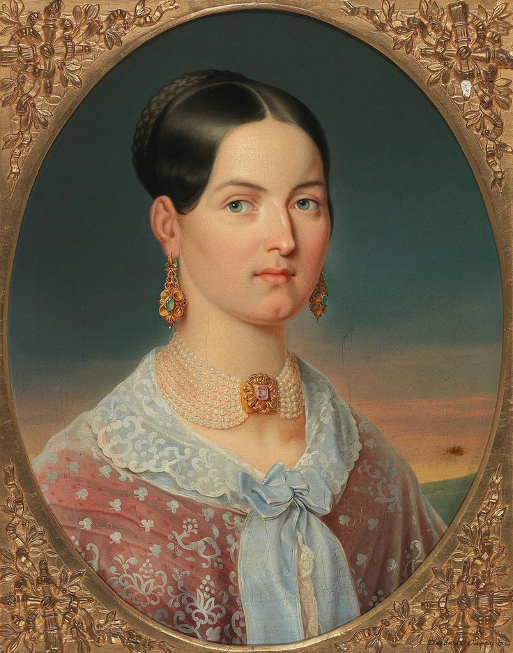 Аноним (Anonymous), ок.1840_Портрет дамы с жемчужным ожерельем