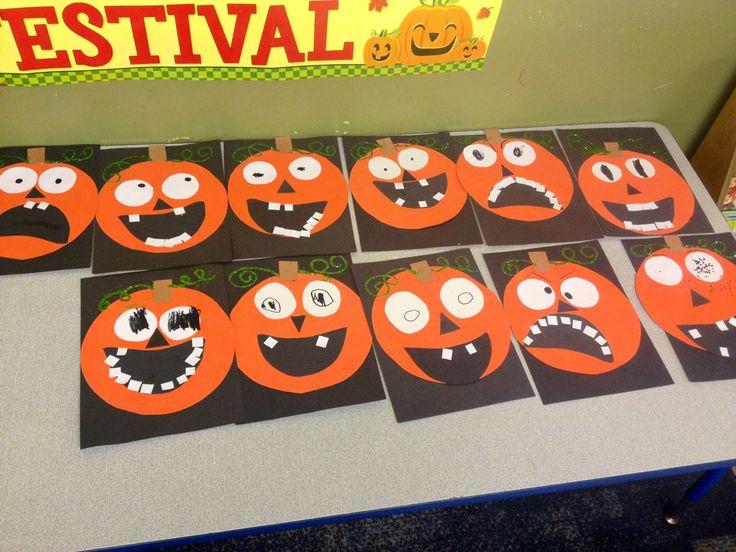 Funny pumpkin craft for kids !