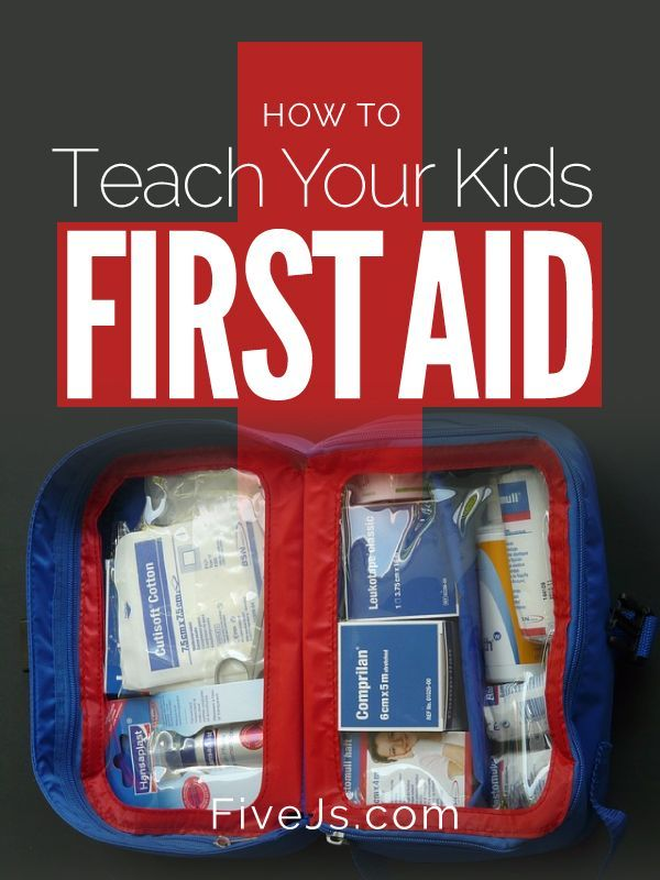 Some helpful resources for teaching first aid to kids.