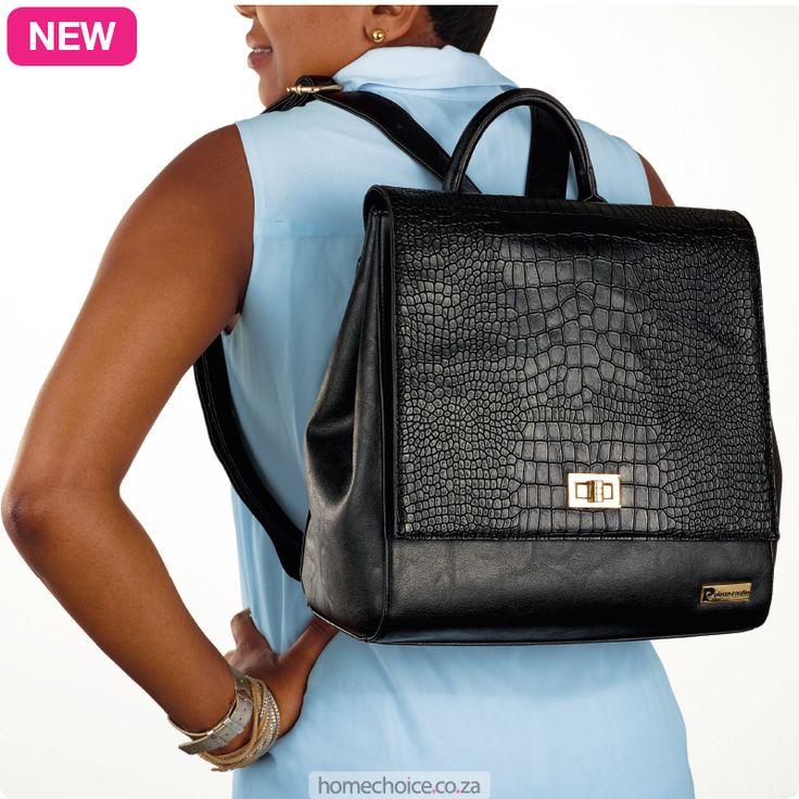 Kim backpack from R599 cash or R76 p/m. Shop now http://www.homechoice.co.za/Fashion/Handbags/Kim.aspx