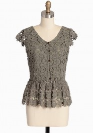forest tapestry crocheted top