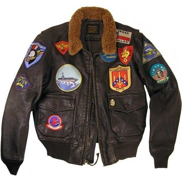 Cockpit Mens Reproduction Top Gun G-1 Leather Flight Jacket ❤ liked on Polyvore featuring men's fashion, men's clothing, men's outerwear, men's jackets, mens blouson jacket, mens leather bomber jacket, mens real leather jackets, mens jackets and mens bomber jacket