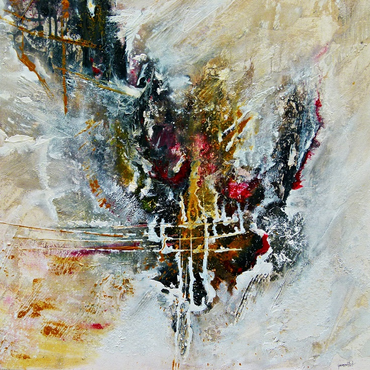 expressive paintings by artist Ismeta Gruenwald.  This original painting is unique!  50x50cm painted in mixed media with acrylic on canvas.  http://ismeta-gruenwald.artistwebsites.com/featured/powerful-abstract-art-ismeta-gruenwald.html