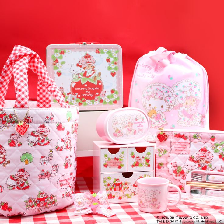 We are so 'berry excited'! Introducing the Hello Kitty x Strawberry Shortcake collection. Pick up your piece of nostalgia now, before it's gone.