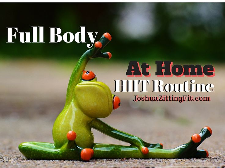 Incredible Full Body HIIT Routine that you can do from home with no equipment and still burn a ton of fat!  http://www.joshuazittingfit.com