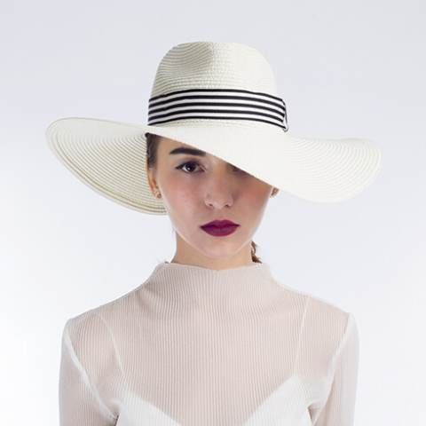 Hatband straw beach hats white wide brim hats for women  0ac5f2b9bc1a