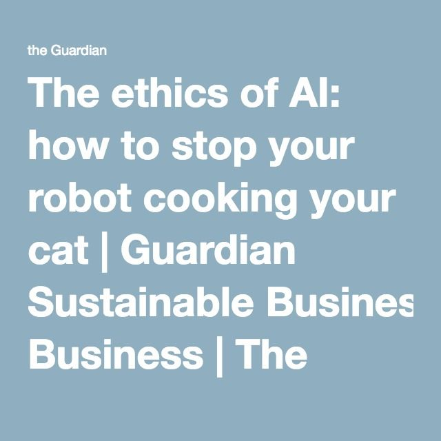 The ethics of AI: how to stop your robot cooking your cat | Guardian Sustainable Business | The Guardian