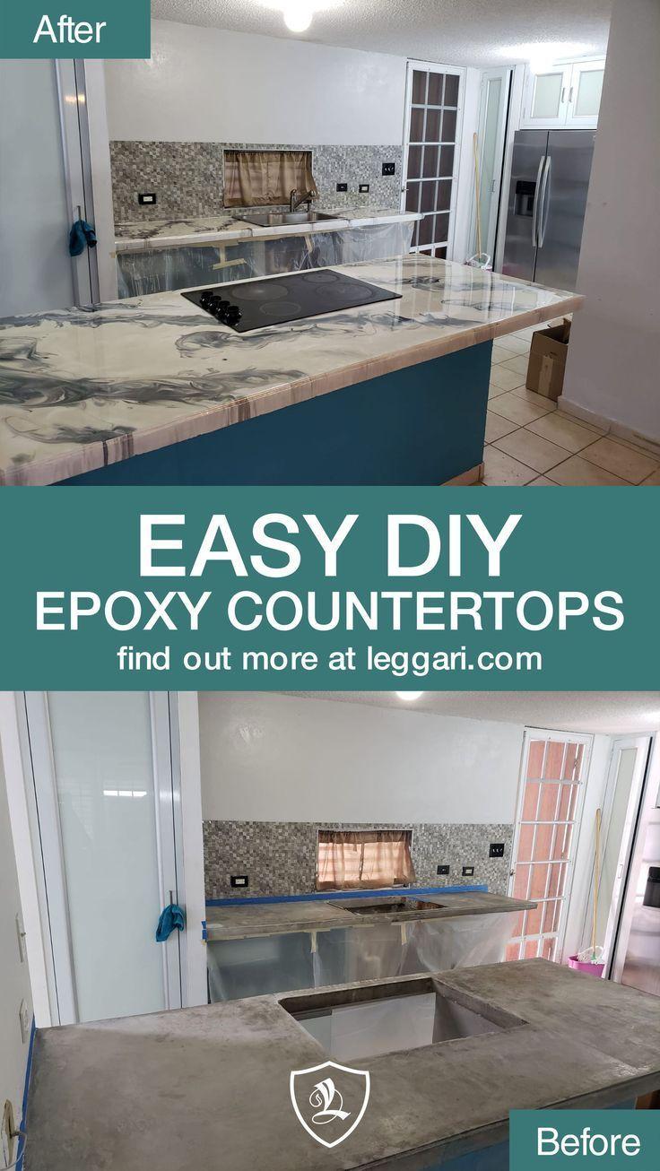 Diy Metallic Epoxy Countertop Kits Are Available The Best Epoxy