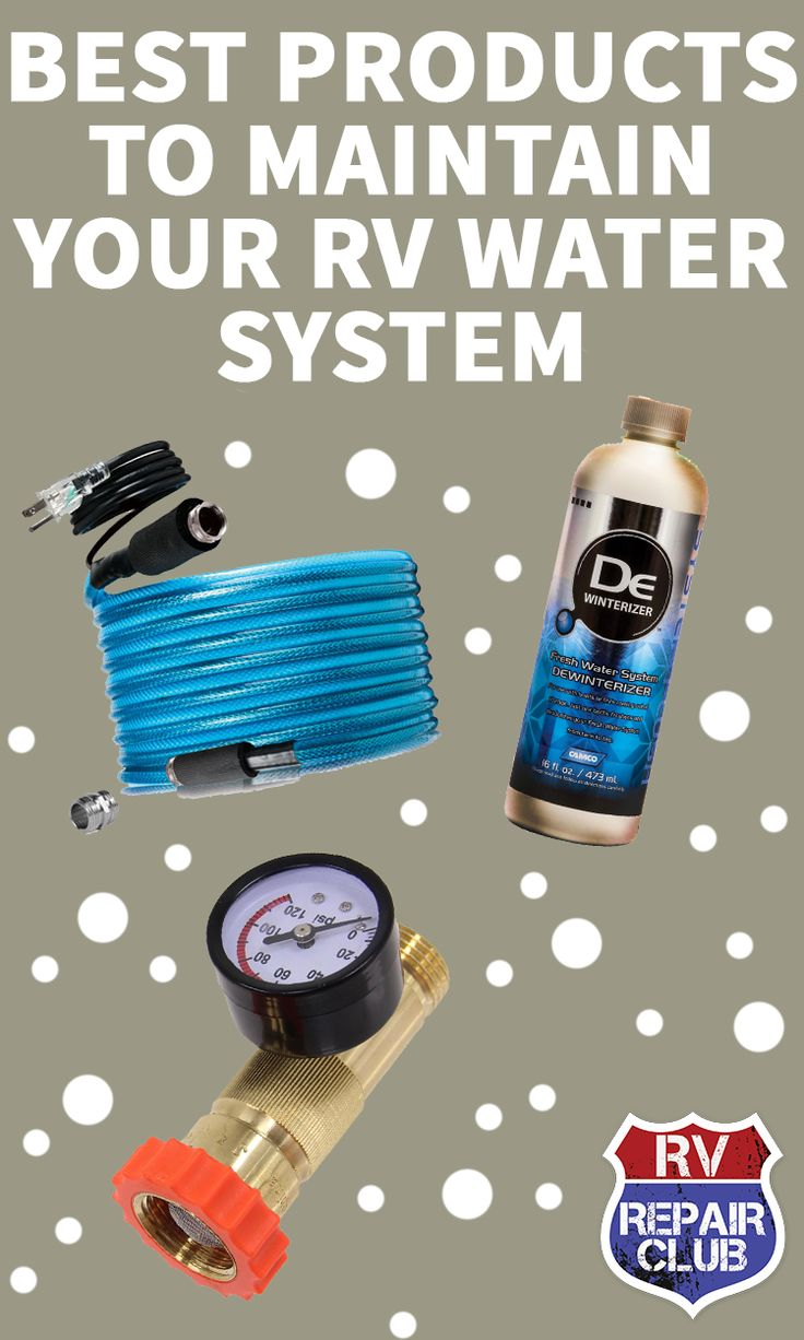 We rely heavily on our RV's water system, for personal hygiene, washing dishes, and in some cases for doing laundry or drinking. So it's worth taking a few minutes to give this vital system some attention.