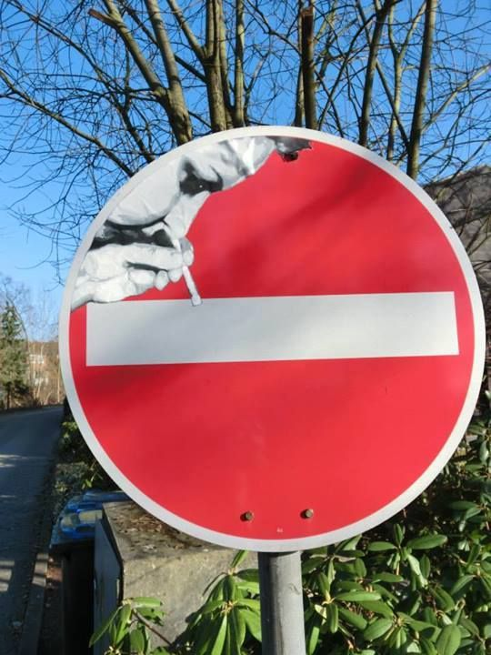 Best Road Signs Hacking Images On Pinterest Street Signs - Brilliant street artist modifies road signs giving them a whole new meaning