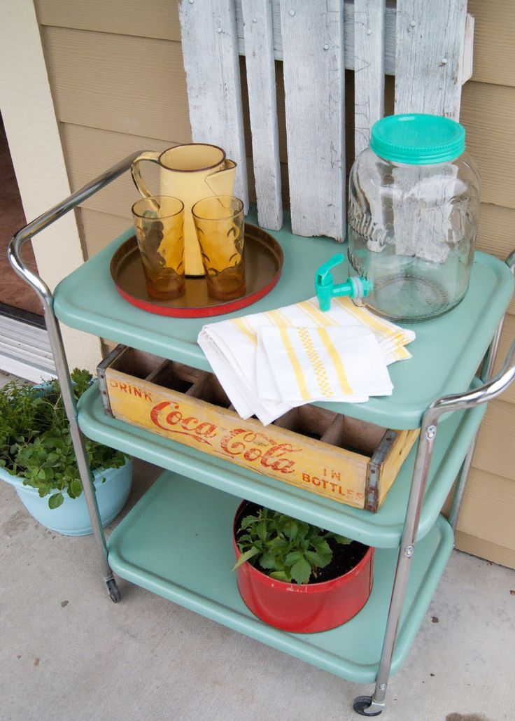 Krylon Jade used to transform this roadside find into entertaining cart - after