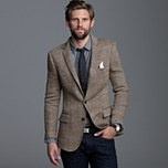 classy jacket with vinyl buttons