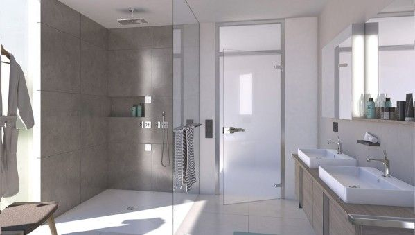 96 best salle de bains images on pinterest wood for Installer une douche exterieure
