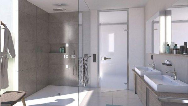 96 best salle de bains images on pinterest wood for Poser douche italienne