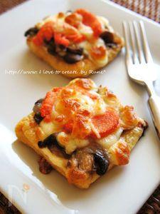 ゆず香るカリカリ薄揚げ明太子の和風ピザ