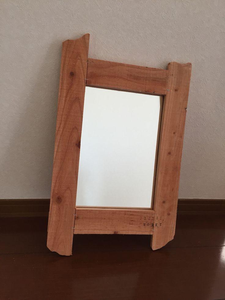 古材フレーム/鏡2