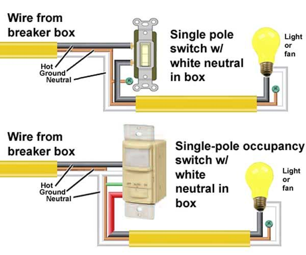 10 Best Home Improvement S On Pinterest Electric Electrical. Single Pole Occupancy Switch. Wiring. Of Diagram Doorbell A Wiring Wl 4a At Scoala.co